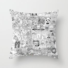 mashup Throw Pillow