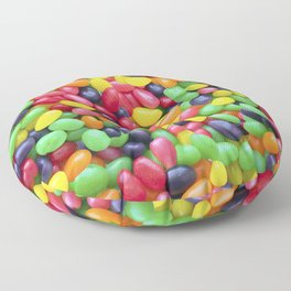 Jelly Bean Candy Photo Pattern Floor Pillow