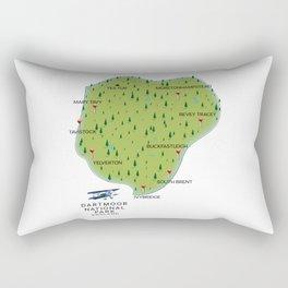 Dartmoor national park England Map Rectangular Pillow