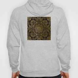 Sophisticated Black and Gold Art Deco Pattern Hoody