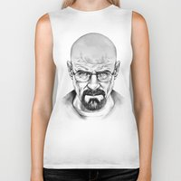 walter white Biker Tanks featuring Walter White by 13 Styx