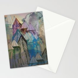 Triangular Endings on the Top Above the Clouds / Urban 04-11-16 Stationery Cards