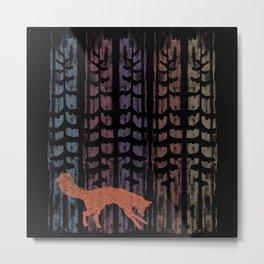Fox Colors Metal Print