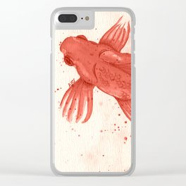 Carmine goldfishes Clear iPhone Case