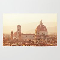 florence Area & Throw Rugs featuring Florence Cathedral by happeemonkee