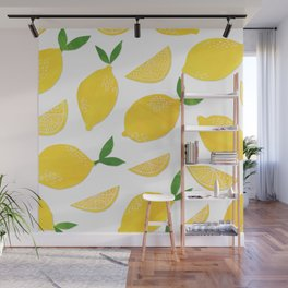 Lemon Cut Out Pattern Wall Mural