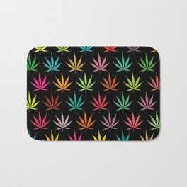 Cannabis Leaf Multi-coloured Pattern Bath Mat