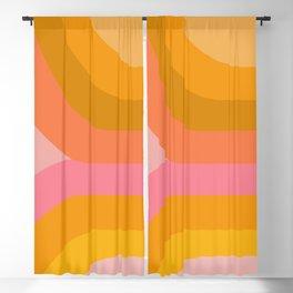 Retro Rainbow 89 Blackout Curtain
