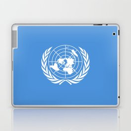 Flag on United nations -Un,World,peace,Unesco,Unicef,human rights,sky,blue,pacific,people,state,onu Laptop & iPad Skin