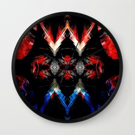 Shifted Red, White, & Blue Wall Clock