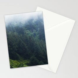 Oregon forest, foggy forest, oregon coast, green forest, nature, moody forest, moody landscape Stationery Cards