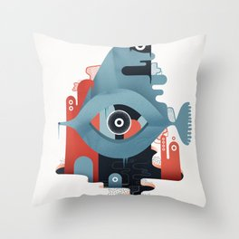 Abyss n°2 Throw Pillow