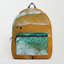 Ocean Waves Crushing On Beach, Drone Photography, Aerial Photo, Ocean Wall Art Print Decor Backpack