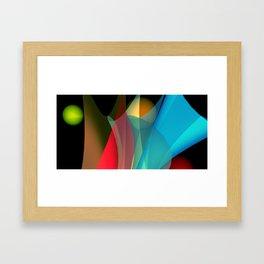 floating colors -b- Framed Art Print