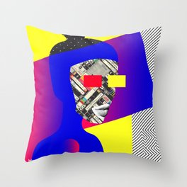 Space Portrait Throw Pillow