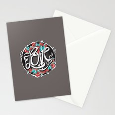Love -Ribbon-Word Stationery Cards
