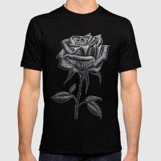 Silver Rose Black MEDIUM Mens Fitted Tee