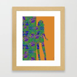 """Be yourself (Pop Fantasy Colorful Woman)"" Framed Art Print"