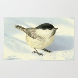 Chilly Chickadee Rug