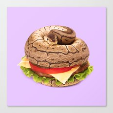 HAMBURGER SNAKE Canvas Print