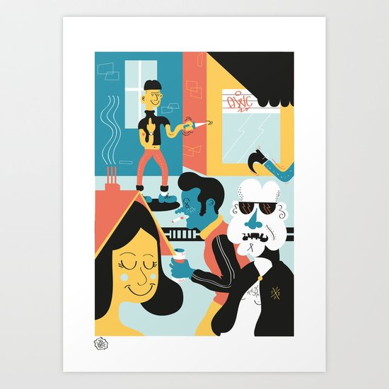 Ordinary day in brussels Art Print
