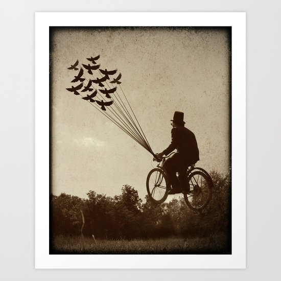 Steampunk Explorer Art Print