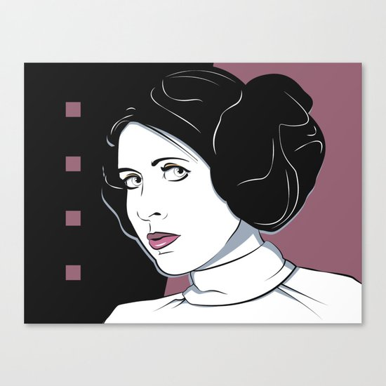 Princess Leia Pop Art Canvas Print