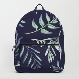 Floating Leaves Blue 2 #society6 #buyart Backpack