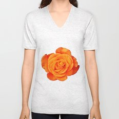 Romantic Rose Orange Unisex V-Neck