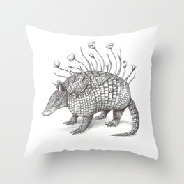 Armadillito Throw Pillow