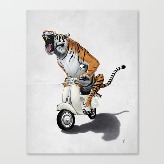 Rooooaaar! (Wordless) Canvas Print