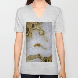 Agate abstract mineral texture Unisex V-Neck