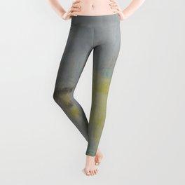 Subliminal Grey. Grey, Rain, Water, Car, Abstract, Blue, Jodilynpaintings Leggings