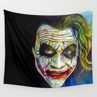 joker Wall Tapestries featuring Joker by Nicolaine