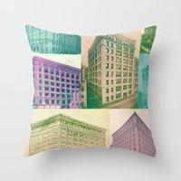 buildings Throw Pillows featuring Buildings by Sarah Brust