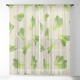 Lettuce Bok Choy Vegetable Sheer Curtain