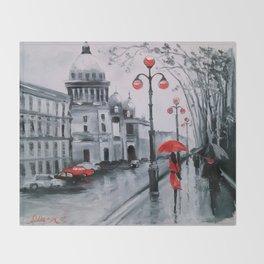 St. Petersburg Admiralty Avenue Throw Blanket