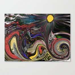 """Stress"" Original Digital Art 2014 Canvas Print"