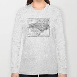 Vintage Map of North Carolina (1859) BW Long Sleeve T-shirt
