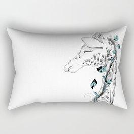 Poetic Giraffe Rectangular Pillow