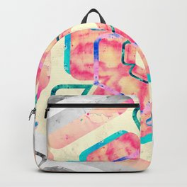 Orange Peach Viola Hybrid Flower Abstract Art Watercolor Backpack