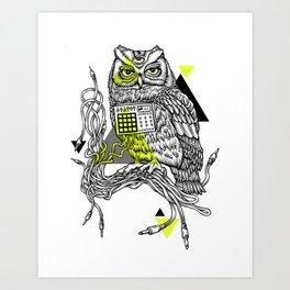 DiscOwl 2c Art Print