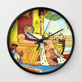 King Morpheus and Flip Wall Clock