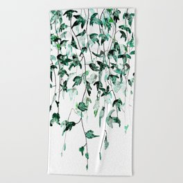 Ivy on the Wall Beach Towel