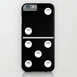 Black Domino / Domino Negro iPhone Case