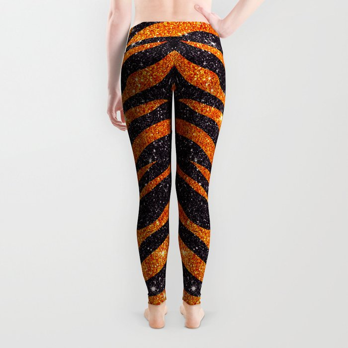 Tiger Shout Glitter Stripe Leggings