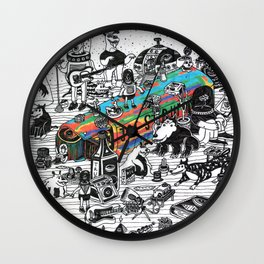 GLOBAL A GO-GO Wall Clock