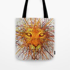 Lion Drip Tote Bag