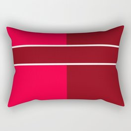 Team Color 6...maroon,red Rectangular Pillow
