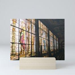 Grand Stained Glass Hallway, Chapultepec Castle 35mm Film Mini Art Print